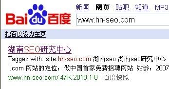搜索网站湖南seo的快照